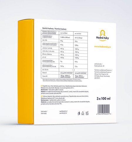 Hodné tuky CBD 600 mg balení nutriční hodnoty