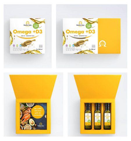 Omega +D3 konopný olej s 600 mg CBD balení