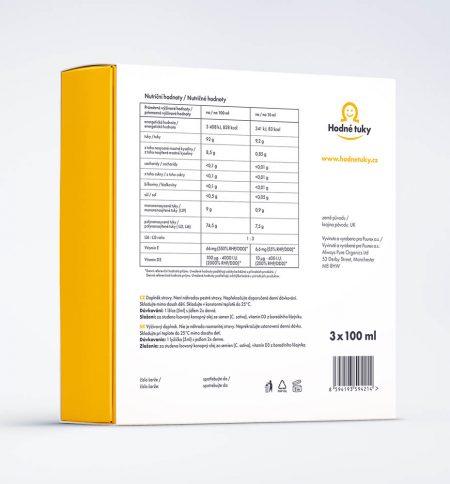 Hodné tuky CBD 1200 mg balení nutriční hodnoty