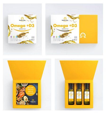 Omega +D3 konopný olej balení